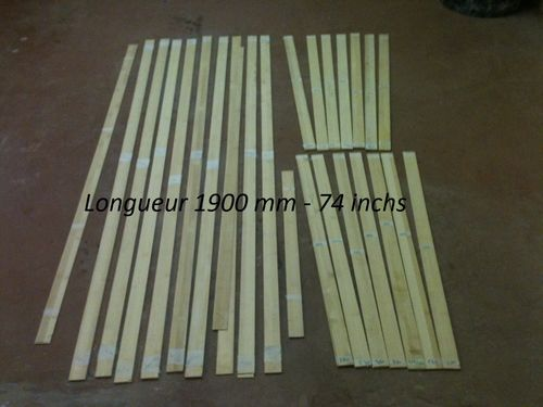 Bambou lamination 2 mm  x 50 m x 1900 mm (74 inchs)
