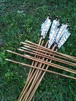 Bamboo arrow shaft