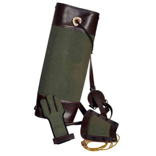 Back quiver + glove + armguard